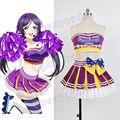 Amor Ao Vivo! lovelive nozomi tojo cosplay halloween costume outfit uniforme cheerleader escola idol projeto cheer dress para as mulheres