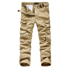 Free Shipping  Mens joggers casual Pants military  army cargo combat Loose work pants Outdoors Zipper Casual Dress size 30-40#