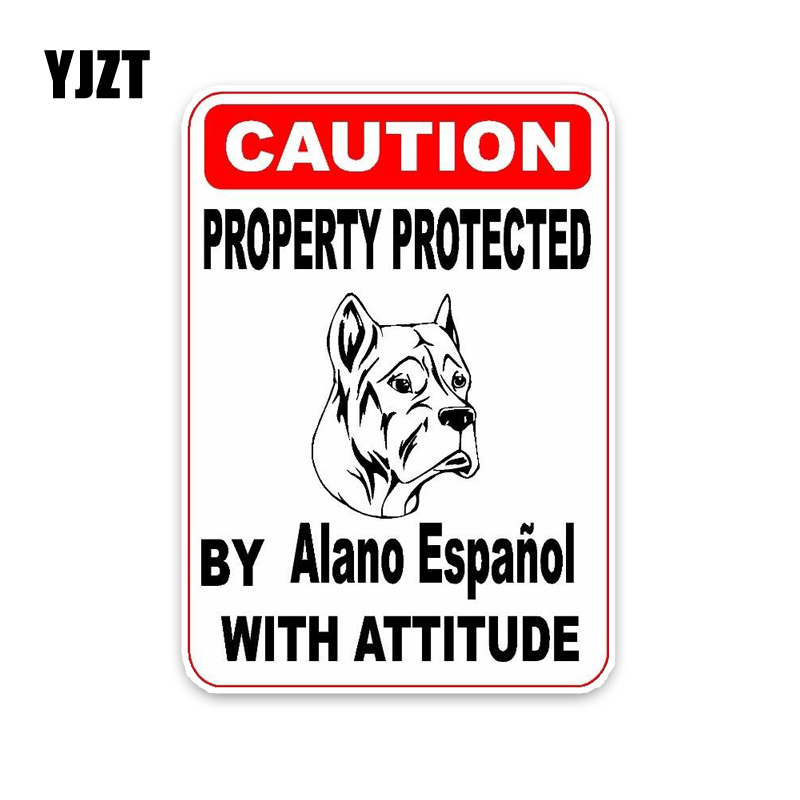 WARNING DALMATIAN WITH AN ATTITUDE STICKER DECAL