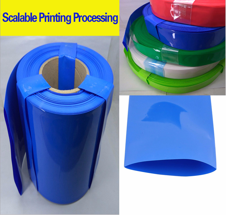 Free shipping Long 2m width 250mm blue PVC pipe thermal model accessories Lithium battery packaging shrink film cable sleeves