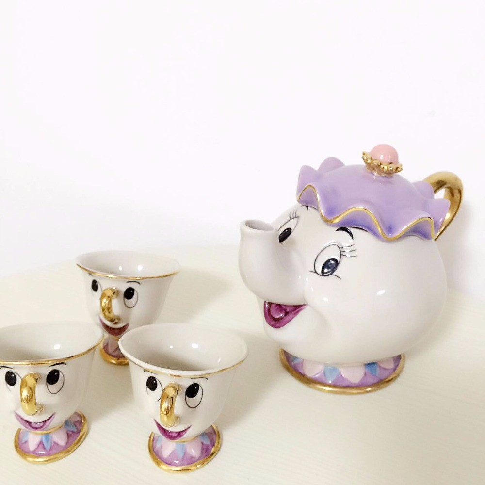 Hot Sale Old Style Cartoon Beauty And The Beast Teapot Mug Mrs Potts Chip Tea Pot Cup One Set Nice Christmas Gift Free Shipping Beauty Style Gifts Freegift Gifts Aliexpress