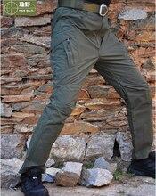 HANWILD 2017 Man New Tactical Teflon Coat Waterproof Outdoor Army Pant Combat Miltary Trekking Training Plus Size Trouser 3XL P6