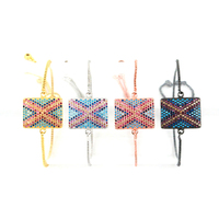 Fashion Style Square Shape Link Bracelet Boho Adjustable Charm Bracelet for Women Bracelets & Bangles