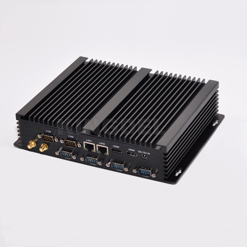 Kingdel New arrival Fanless Mini Industrial Computer Barebone Intel i5 4200U 8GB RAM Desktop PC Win 10 Dual LAN 6 Com RS232Kingdel New arrival Fanless Mini Industrial Computer Barebone Intel i5 4200U 8GB RAM Desktop PC Win 10 Dual LAN 6 Com RS232