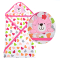 Gato de rosa do bebê respingo envoltório banho com capuz toalha Robe