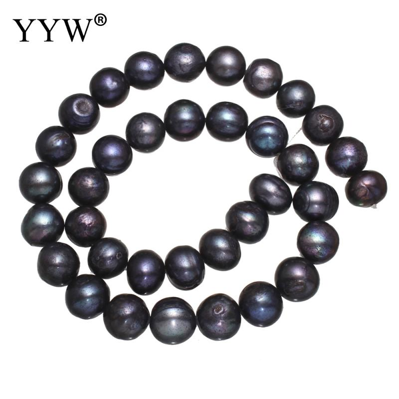 11 12mm Natural Blue Potato Shape Fashion Freshwater Loose Pearl Beads Necklace Bracelat Jewelry Making DIY
