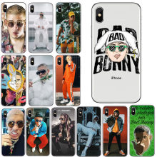 Bad Bunny Maluma Ozuna POP Hip Hop Rapper Cover For iPhone XS MAX 4S 5S SE 6 6S 7 8 X Plus Hard plastic phone Coque Shell cases(China)