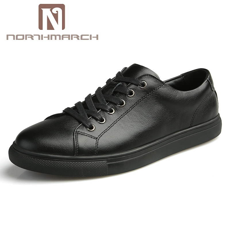 NORTHMARCH Genuine Leather Men Casual Shoes Luxury Men Loafers Men Shoes Fashion Flats Mens Trainers Chaussures Homme Footwear new mens shoes casual black sneakers leather shoes men loafers white platform driving shoes for men trainers chaussures hommes