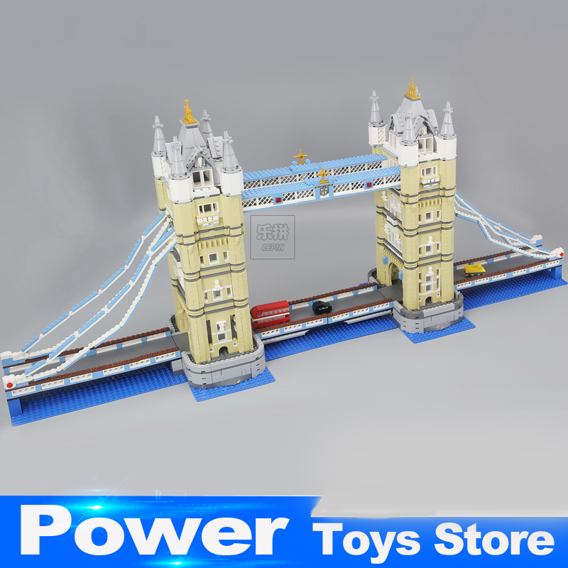 2017 New Lepin 17004 4295Pcs Creator Expert London Tower Bridge Model Building Blocks BricksToys Gift Compatible Christmas 10214 in stock new lepin 17004 city street series london bridge model building kits assembling brick toys compatible 10214
