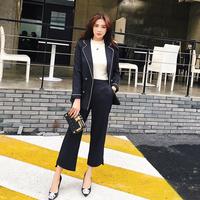 2018New High Quality Casual Pants Nine Small Suit Occupation Female Ladies Temperament Fashion Fashion Tide Two