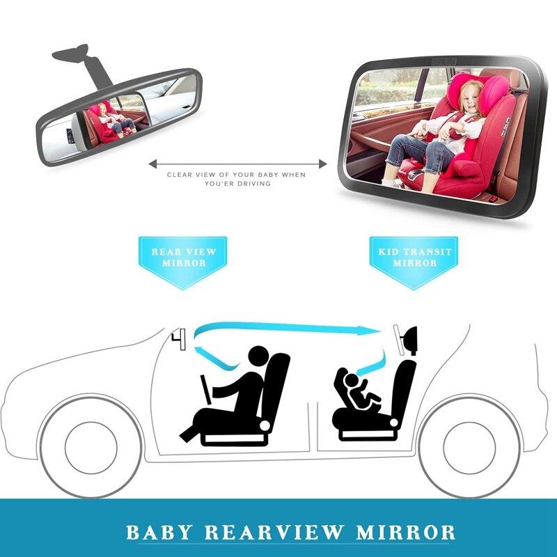 1-Зеркало для детского автомобиля, безопасное детское сидение зеркало для заднего вида младенца с широким кристально чистым видом, небьющеес... смотреть на Алиэкспресс Иркутск в рублях