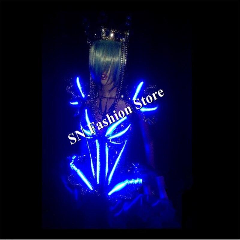 KS001Cosplay kristallvalgustusega valgustusega naiste laval - Pühad ja peod - Foto 3