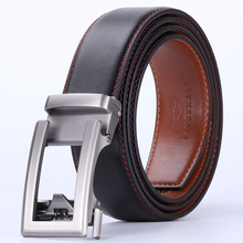 Men's Automatic Buckle Luxury Genuine Leather Belt – Brown / Coffee / Black / Grass Green