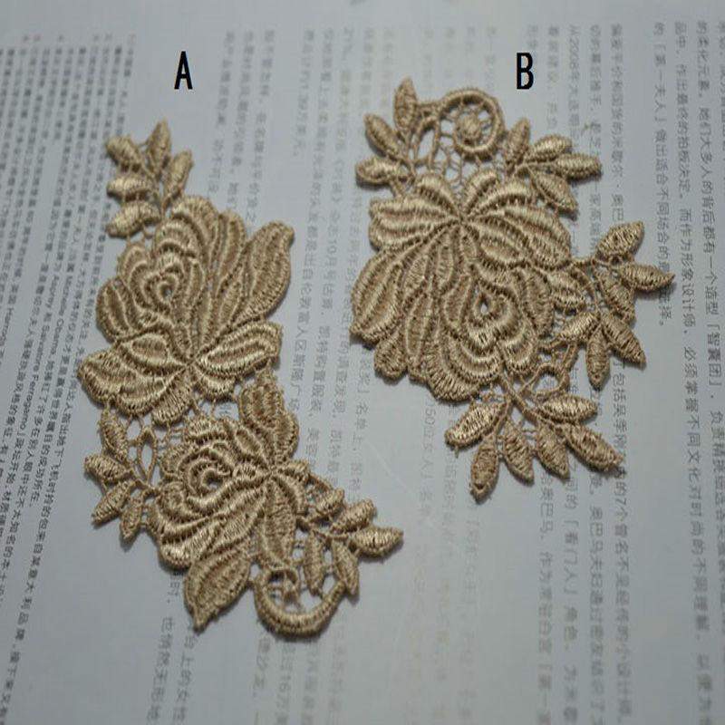 (2ks / lot) 2 druhy hnědých skvrn Svatební svatební vyšívání - Umění, řemesla a šití