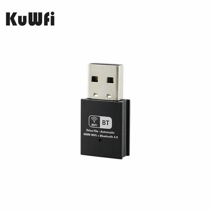 Adaptador de WiFi KuWFi USB 2,4 GHz 5GHz antena WiFi PC Mini receptor de tarjeta de red de ordenador inalámbrico banda Dual 802.11b /n/g/ac