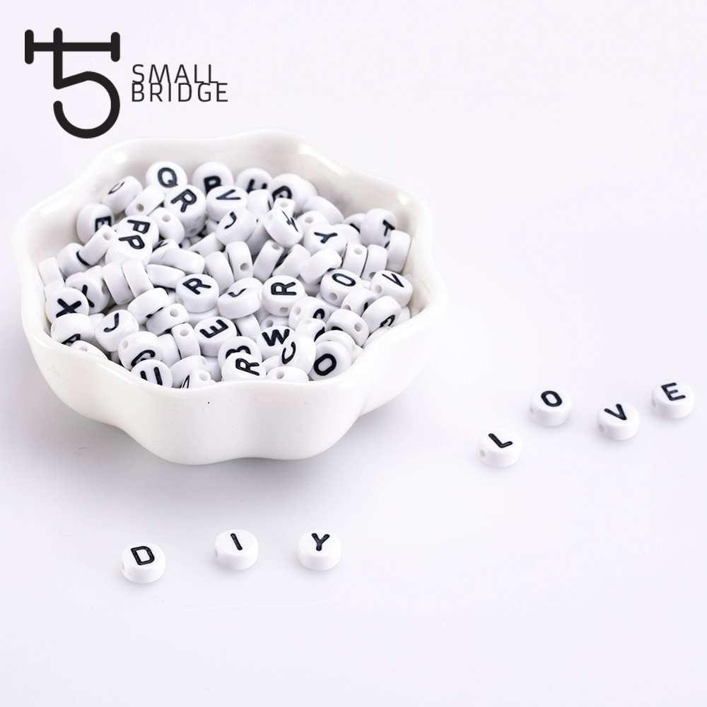 6mm Round Plastic Alphabet Beads For Jewelry Making Diy Bracelet Accessories Loose Mix color Letter Acryic Beads Wholesale P602 in Beads from Jewelry Accessories