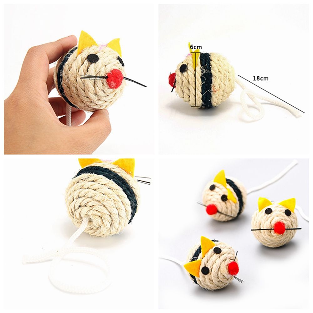 Plush Cat Toy Catnip Soft Pet Toys For Cats Solid Interactive Mice Mouse Toys Cat Supplies Funny Kittens Training Toy Play Games (2)