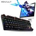 RENAULT Interruptor de Teclado Mecánico Con Retroiluminación Azul 87/104 Teclas Teclado Para Juegos para PC de la Tableta de Escritorio LED Retroiluminación Teclado Gamer