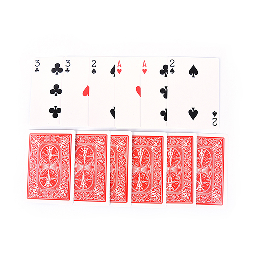 New 2 Sets Magic 3 Three Family Funny Game Card Trick Card Easy Classic Magic Playing Cards(China)