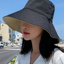 2019 Fisherman Hat Female Summer Korean Version of the Tide Network Red Double Face Cover Anti-UV Hat Sun Hat Visor 6 Colors