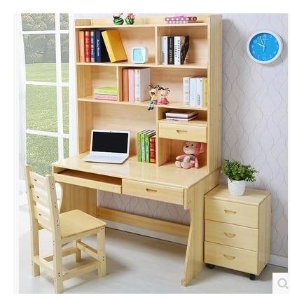 Top Gratis verzending massief houten computer bureau met planken kast &PZ13