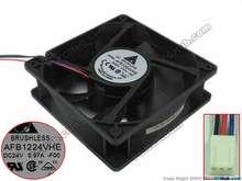 Detla eletrônica afb1224vhe f00 dc 24v 0.57a 120x120x38mm ventilador de refrigeração do servidor