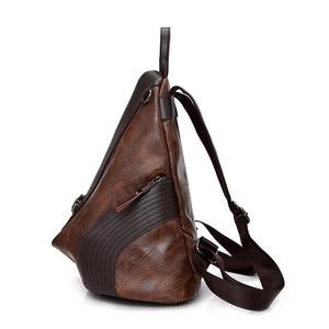 Image 2 - Vintage Antitheft Backpack Women 2018 Fashion New Large Capacity Women Shoulder Bag Leisure Soft Leather School Travel Back Pack