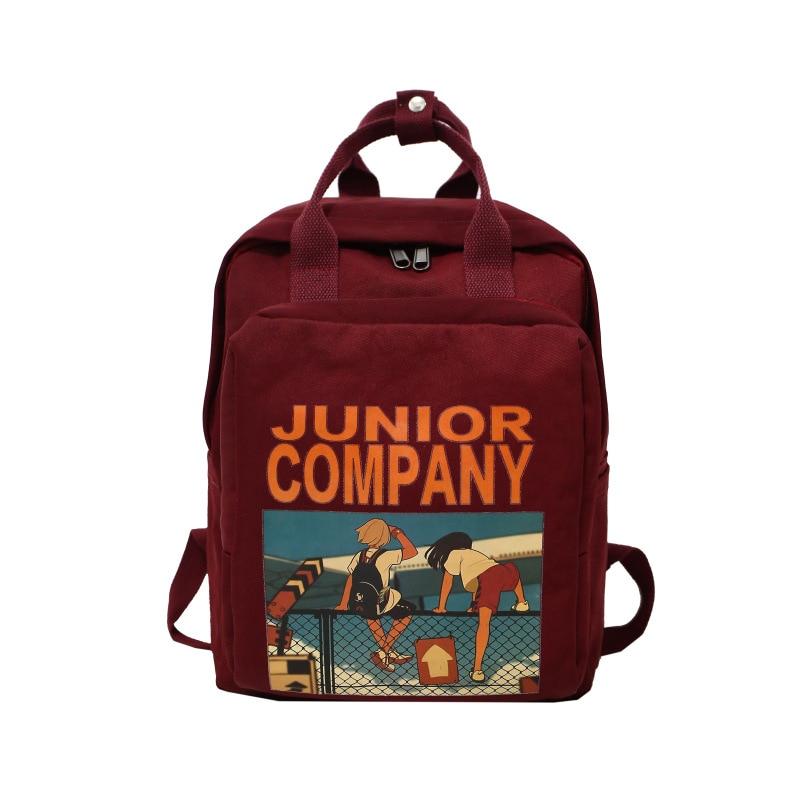 Harajuku Ulzzang Waterproof Nylon Women Backpack Korean Style School Bag For Teenage Girls Brand Design Travel Backpacks Mochila