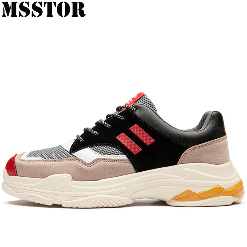 MSSTOR Spring 2018 Breathable Mesh Men Running Shoes Brand Outdoor Athletic Sport Shoes For Men Sports Run Walking Men Sneakers