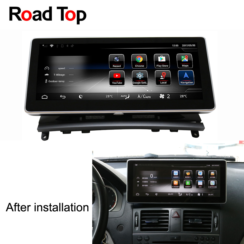 Android 7.1 Octa 8-Core 2 + 32g Auto Radio Unità di Testa di Navigazione GPS Bluetooth WiFi Dello Schermo per mercedes Benz Classe C W204 2008-2010