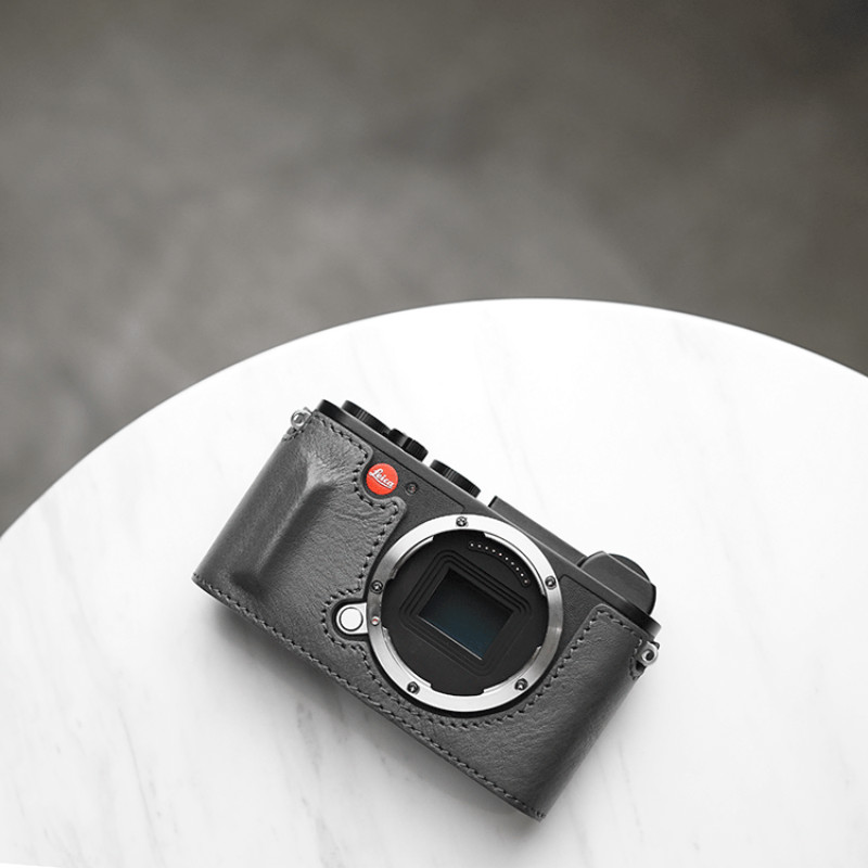 Mr stone Brand Camera Case For Leica CL Genuine Leather Handmade Bag Half Body Bottom Cover