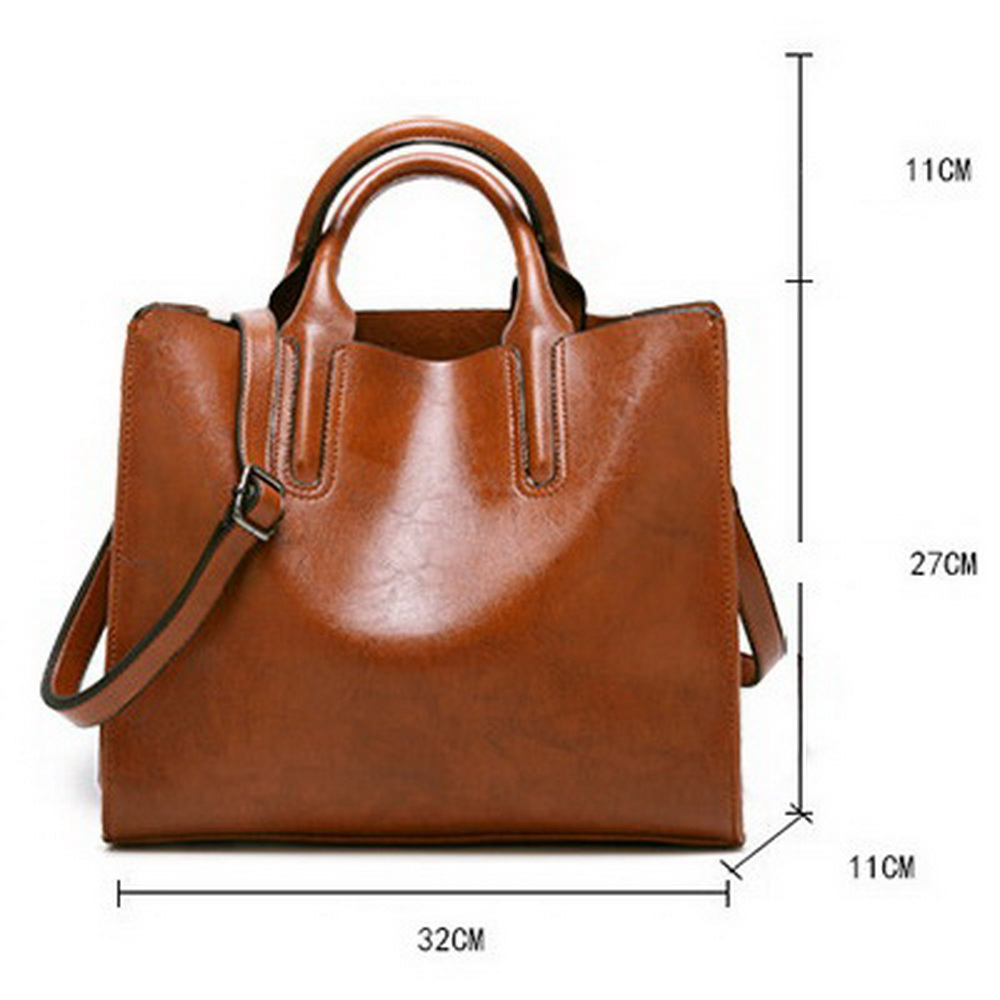 Back To Search Resultsluggage & Bags Leather Handbags For Women High Quality Casual Shoulder Bag Trunk Tote Messenger Crossbody Solid Color Large Bolsos