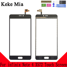 Keke Mia 5.7 For infinix Note 4 X572 Touch Screen Glass Digitizer Panel Lens Sensor Free Adhesive And Wipes
