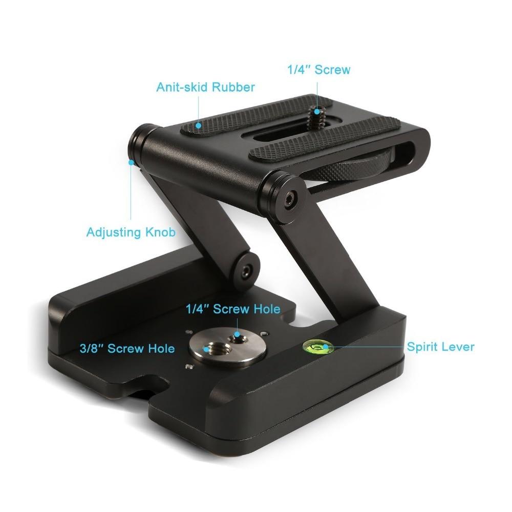 цена на Folding Z Type Stand Holder Professional Tripod Kit Flex Tilt Head Pan Ball Head Folding Desktop Compatible Camera Camcorder
