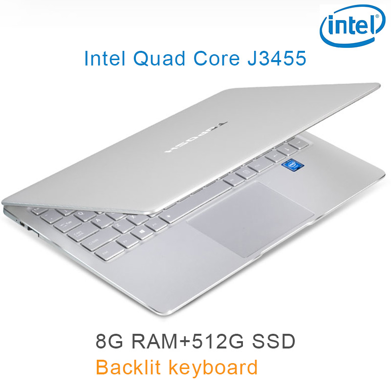"intel celeron j3455 כסף P9-19 8G RAM 512G SSD Intel Celeron J3455 22"" מחשב שולחני מחברת משחקים ניידת עם מקלדת מוארת (1)"