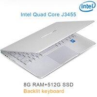 """מקלדת מוארת כסף P9-19 8G RAM 512G SSD Intel Celeron J3455 22"""" מחשב שולחני מחברת משחקים ניידת עם מקלדת מוארת (1)"""
