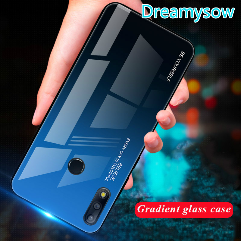 Luxury Gradient Tempered Glass Phone Case For Asus Zenfone Max Pro M2 ZB633KL ZB631KL M1 ZB601KL ZB602K Back Cover Coque Shells