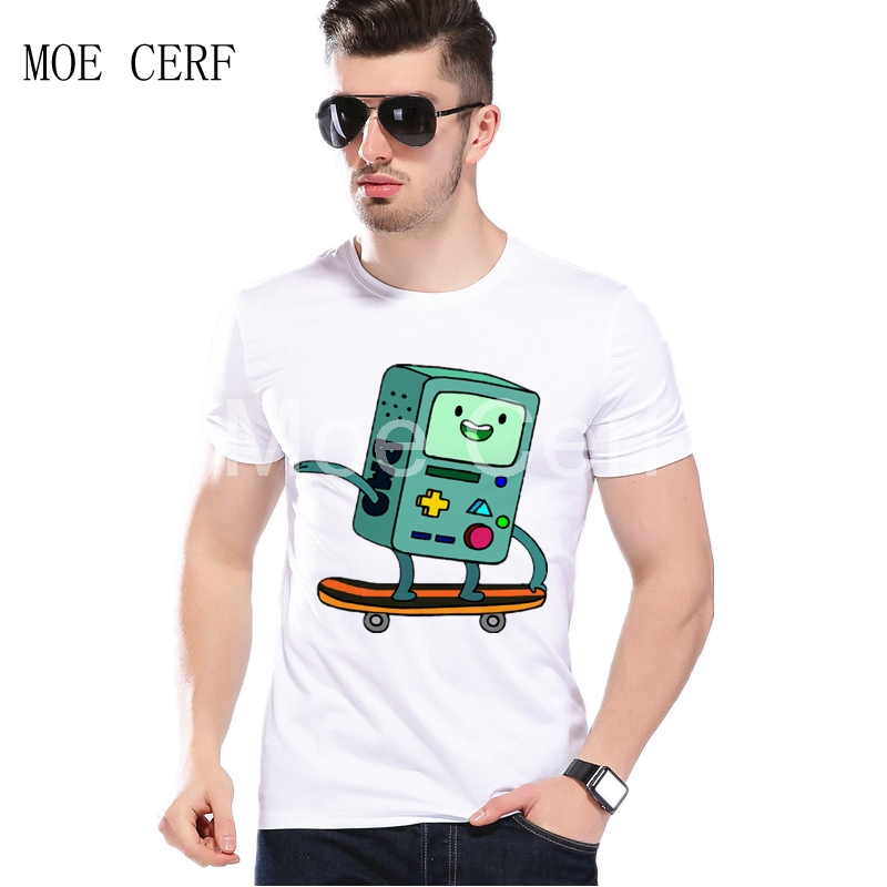 BMO Skateboard Video Game Adventure Time New Fashion Men T Shirt 3d Short Sleeve T Shirt Funny Top Camisa Masculina L1-A-40