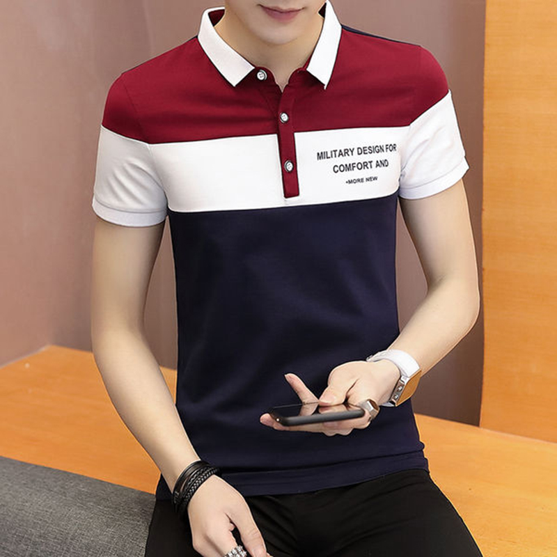 Fashion   Polo   Shirt Male 2019 Hot Sale Cotton Turn-Down Collar Men's   Polo   Shirts Brand Clothes Slim Fit   Polos   Shirt Breathable