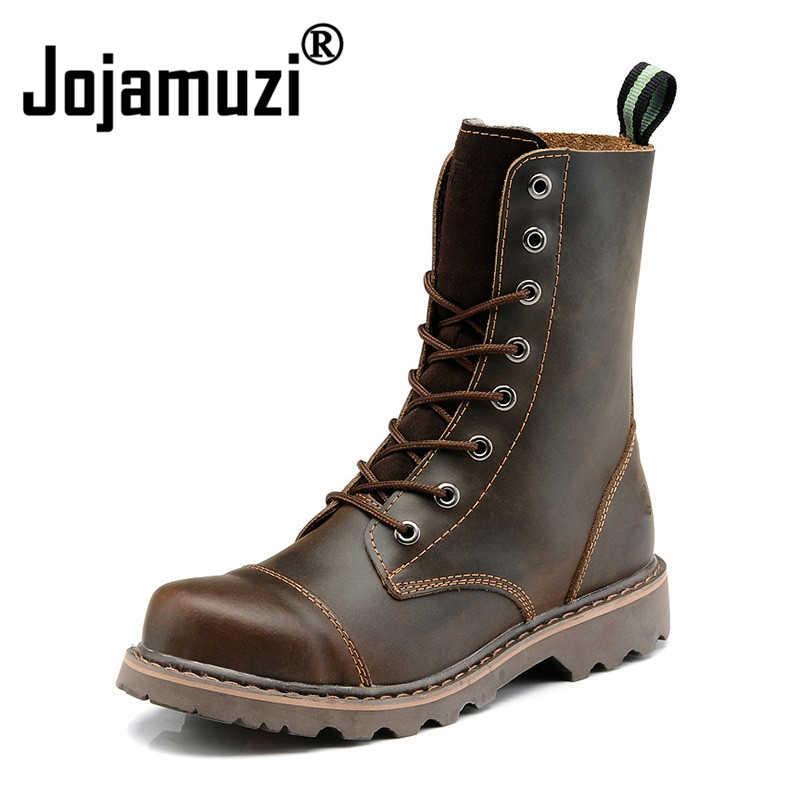9660647abae5 Мужская обувь из натуральной кожи в стиле милитари, Мужская обувь для езды  на мотоцикле,