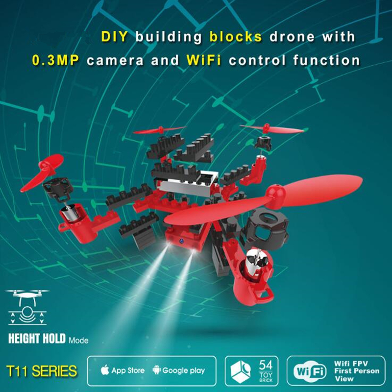 Modular assembly Drone wifi map transfer air pressure fixed high remote aerial photography quadcopter RC Airplanes RC toys