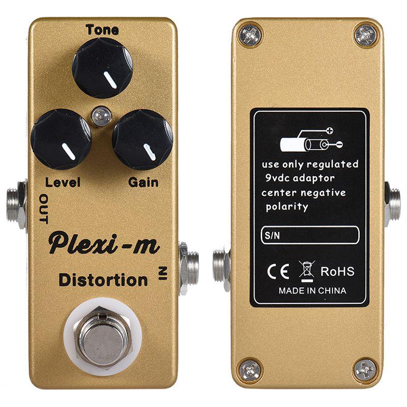 Image 2 - MOSKY Plexi m электрогитара Педаль Эффекта Искажения гитарные части металлический корпус настоящий обходДетали и аксессуары для гитар   -