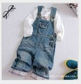 Retail boys and girls spring and autumn denim overalls (does not include T-shirt) free shipping in stock