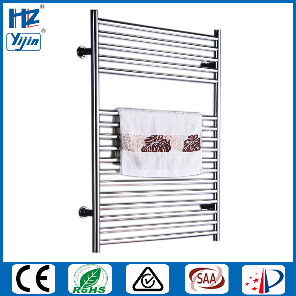 Stainless Steel Electric Radiator Towel Rail: Free Shipping Chromed Heated Towel Rail Stainless Steel