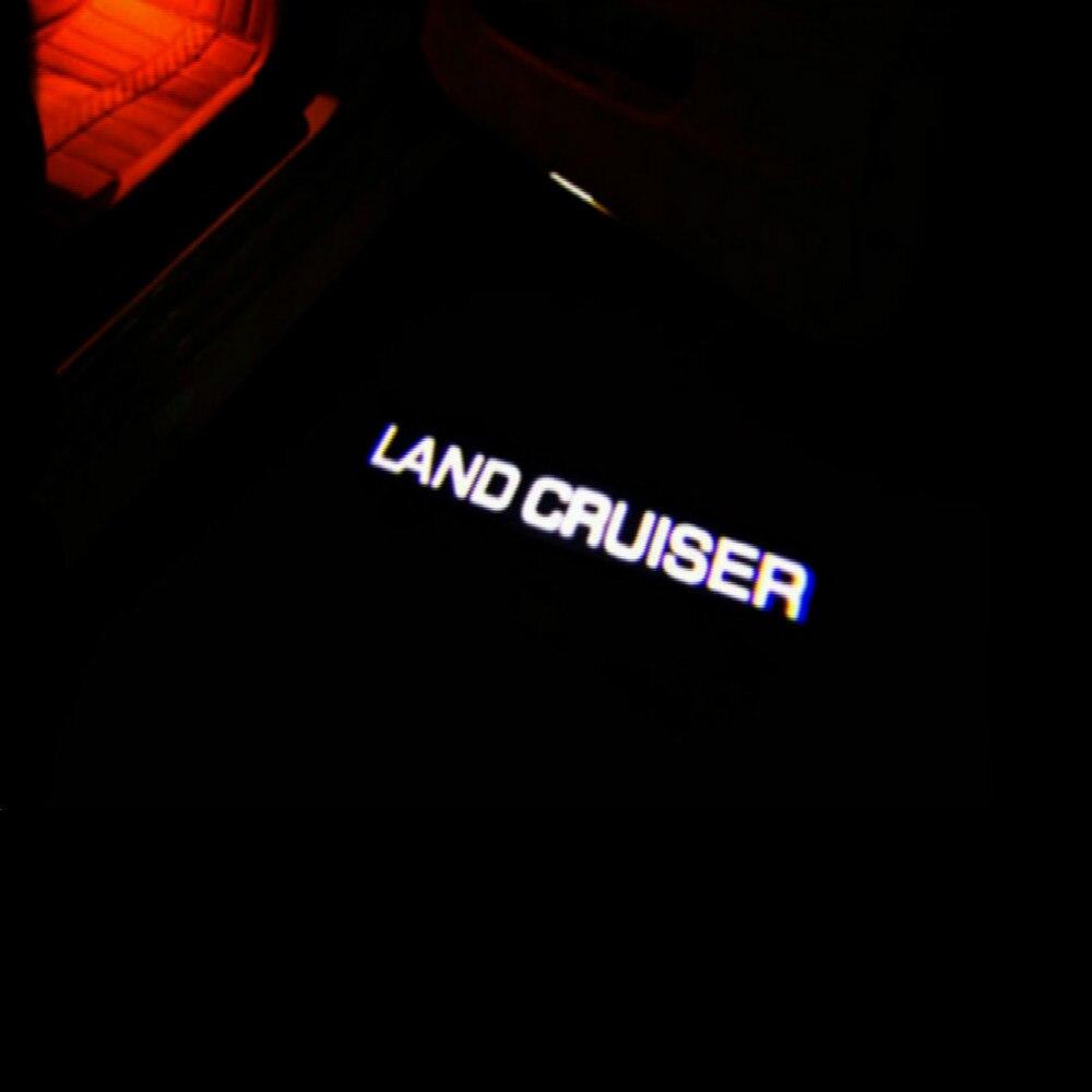 JURUS 2pcs LED Car Door welcome light Courtesy Laser Logo Projector Warning Light car door light For Toyota Land Cruiser logo