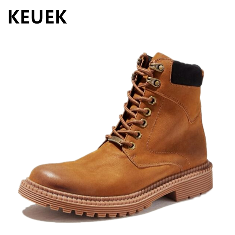 Autumn Winter Fashion Men boots Genuine leather Vintage Motorcycle boots Male Tooling shoes Non-slip Desert Boots 02AAutumn Winter Fashion Men boots Genuine leather Vintage Motorcycle boots Male Tooling shoes Non-slip Desert Boots 02A