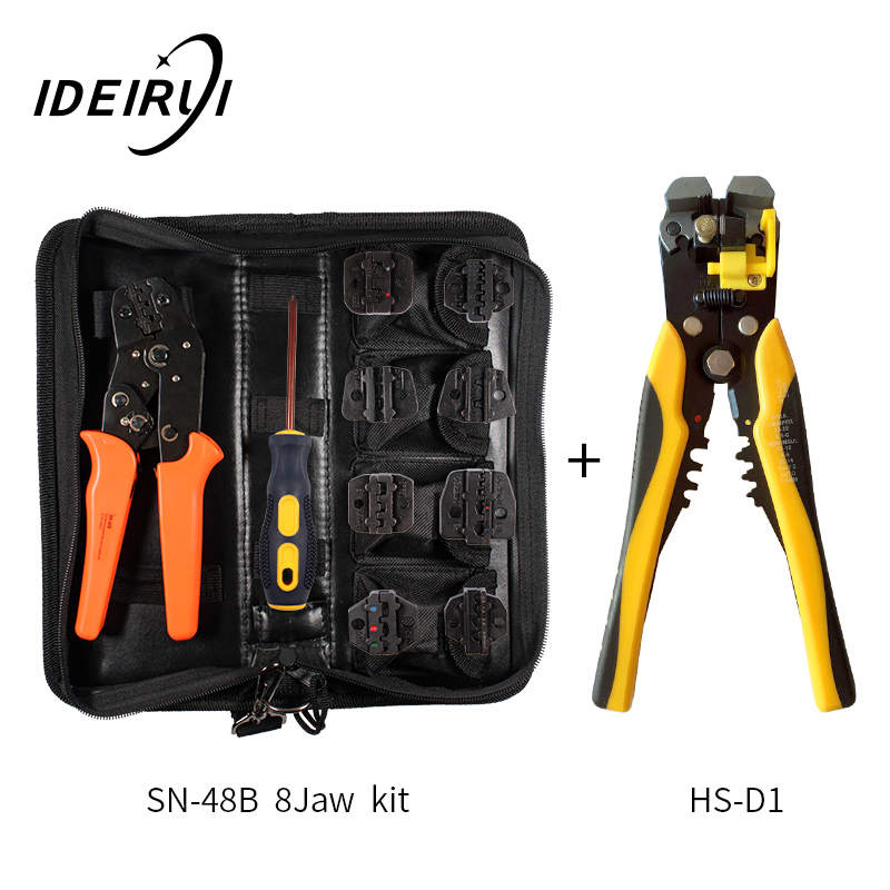 Купить с кэшбэком Crimping pliers SN-48B 8 Jaw For Plug/Tube/Insulated/Non Insulated Terminals Kit Bag Clamp Brand Tools