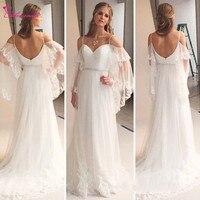 Alexzendra скромное пляжное свадебное платье для беременных 2019 аппликация «сердце» летние свадебные платья hochzeitskleid индивидуальный заказ