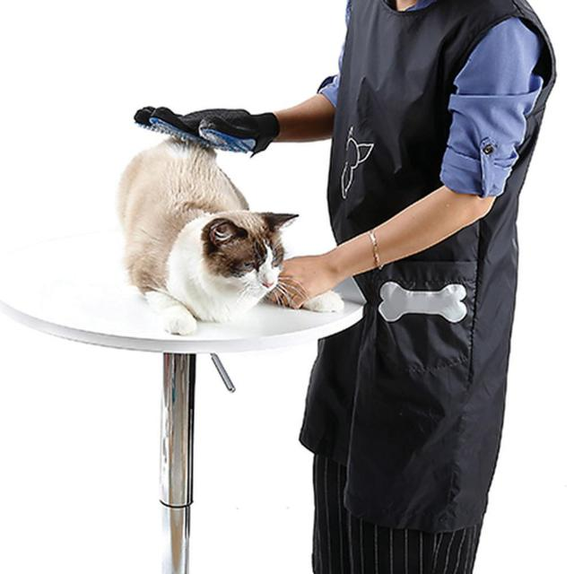 Sleeveless Anti-static Pet Beautician Work Clothes Apron for Dog Cat Hairdressing Grooming Pet Store Beauty Robe Dress Hot sale