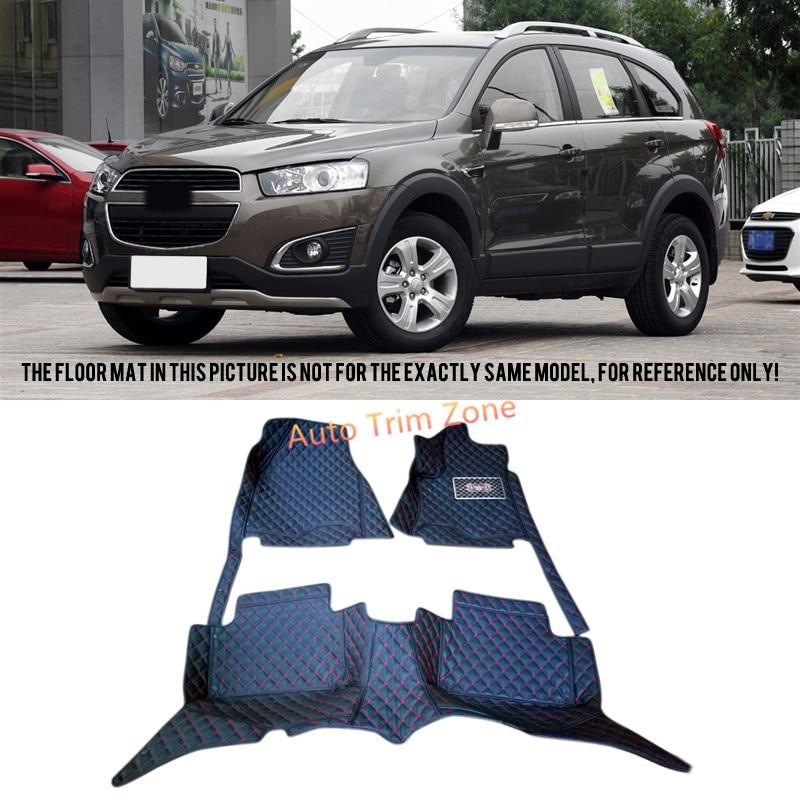 все цены на Black Interior Leather Floor Mat & Carpet For Chevrolet Captiva 2012-2015 ( For 5-Seat Model ) онлайн